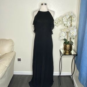 ANGL Women's Long Black Evening Gown Size M